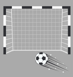 soccer goal football goalpost with net on a vector image
