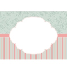 Stripes and roses on green vector
