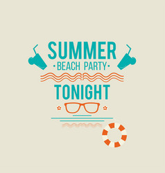 summer beach party poster background retro vector image
