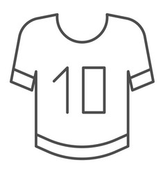 t-shirt thin line icon clothing vector image