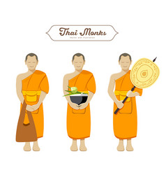 Thai monks collections vector