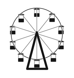 the wheel is in the amusement park slow vector image