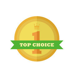 top choice gold medal vintage custom badge emblem vector image