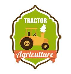 tractor design vector image