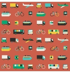 Transportation seamless pattern vector