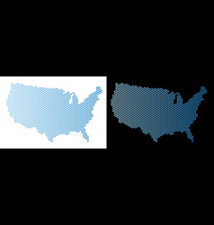 usa map hex tile abstraction vector image
