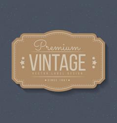 Vintage labels and frame design elements for vector