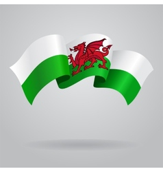 Welsh waving Flag vector
