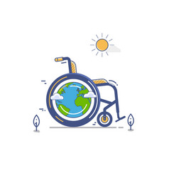 whellchair or invalid disabled flat vector image