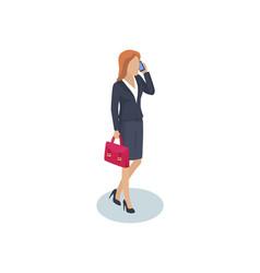Woman businesswoman closeup vector