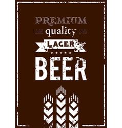 design of beer label vector image