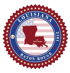 Label sticker cards of State Louisiana USA vector image vector image