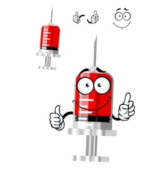 Medical isolated syringe cartoon character vector image vector image