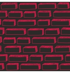 Red brick wall seamless pattern vector image