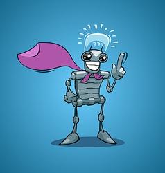 robot have idea vector image