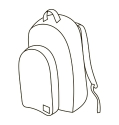 School backpack icon outline style vector