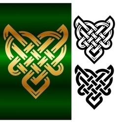 small celtic heart vector image