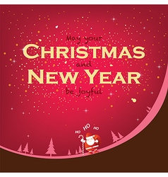 Smile in Christmas and New Year season vector image vector image