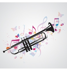 trumpet black vector image vector image