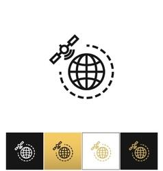 World gps satellite icon vector image vector image
