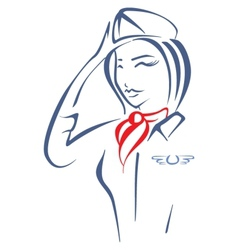 Air hostess vector