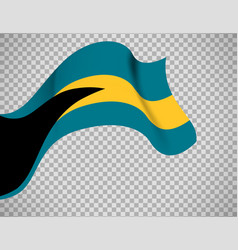 bahamas flag on transparent background vector image