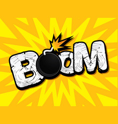 boom text vector image