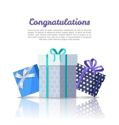 Congratulations conceptual web banner in flat vector