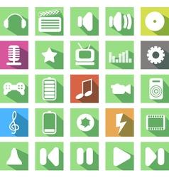 media icon vector image vector image