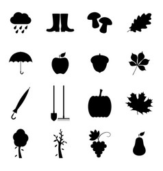Set of autumn icons vector