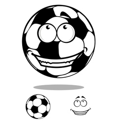 Soccer ball character happy smiling vector image