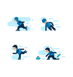 winter games vector image vector image