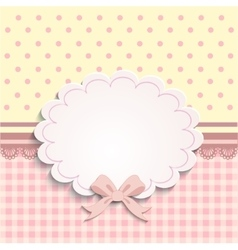card or label for little girls vector image vector image