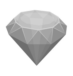 diamond icon in monochrome style isolated on white vector image vector image