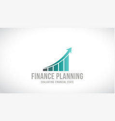 finance planning logo design vector image vector image