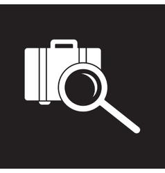 flat icon in black and white style baggage Scanner vector image vector image