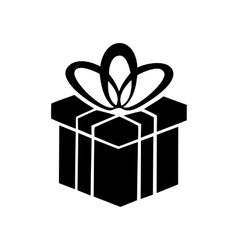 Gift box simple icon vector image