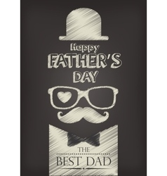 happy fathers day design vector image