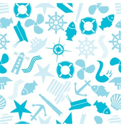 nautical icon color pattern eps10 vector image