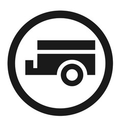 no trailers prohibited sign line icon vector image vector image
