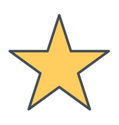 star line icon vector image vector image