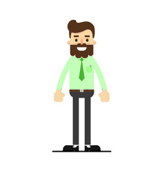 Young successful bearded businessman character vector