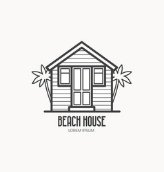 beach house logotype vector image vector image