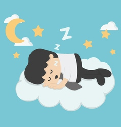 businessman Sleeping On Clouds vector image vector image