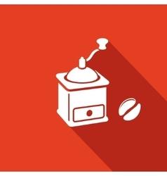 Coffee mill icon vector image vector image