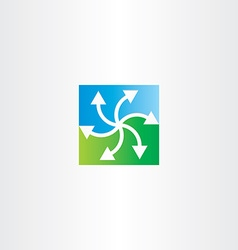 green blue arrows recycling symbol vector image