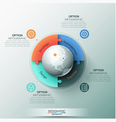 infographic design template 4 connected jigsaw vector image vector image
