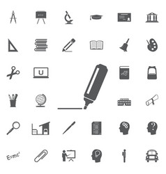 the marker icon highlighter symbol flat vector image vector image