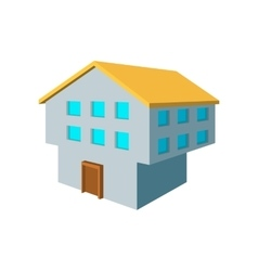 Two-storey house cartoon icon vector image vector image