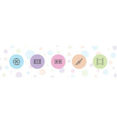5 reel icons vector